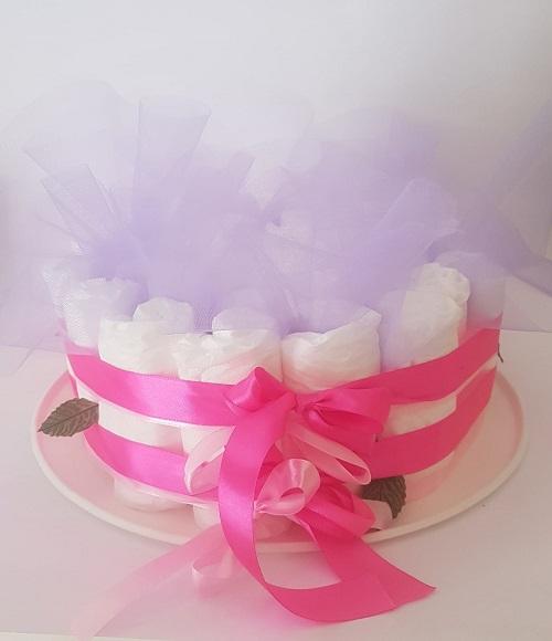 torta un piano rosa